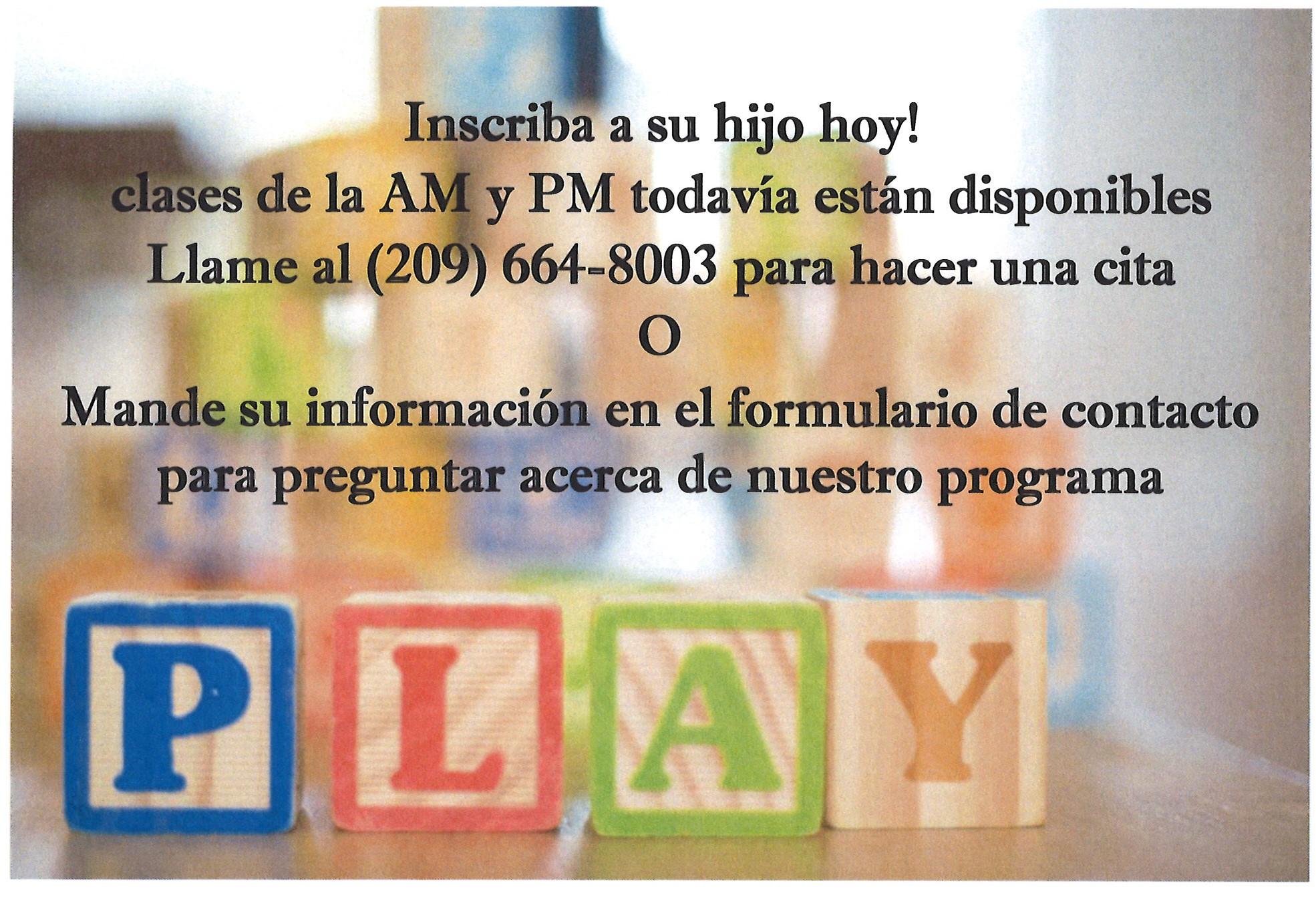 Preschool Posting Spanish
